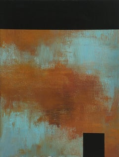 """Tamar Zinn """"Untitled 6"""" -- Abstract Oil Painting on Paper"""