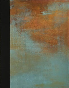 """Tamar Zinn """"Untitled 7"""" -- Abstract Oil Painting on Paper"""