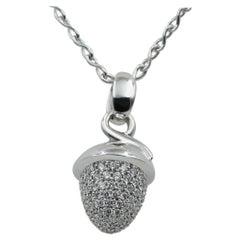 Tamara Comolli 1.20ctw Diamond Pave Mikado Bouquet Pendant, 18K White Gold