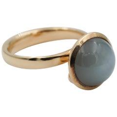 Tamara Comolli Large Bouton Grey Moonstone Ring in 18k Rose Gold