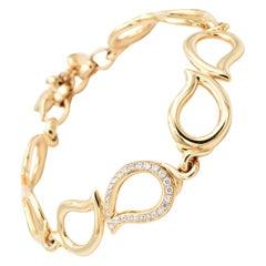 Tamara Comolli Signature Bracelet Large Diamond Pave - B-Sig-l-1pl-rg