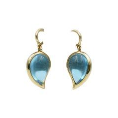 Tamara Comolli Signature Drop Blue Topaz Ear Charms in 18k Yellow Gold