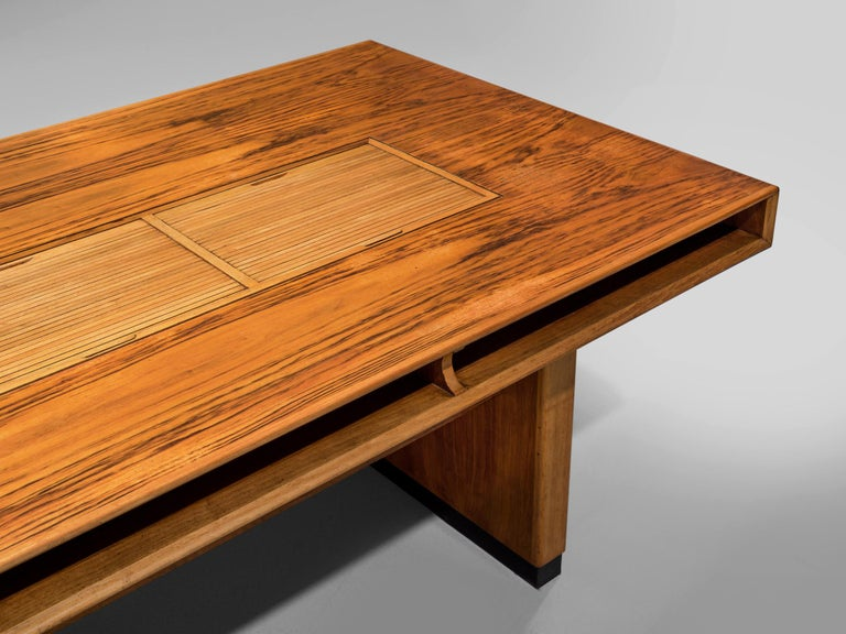 Tambour Desk with Rosewood and Walnut 1