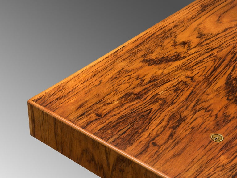 Tambour Desk with Rosewood and Walnut 2