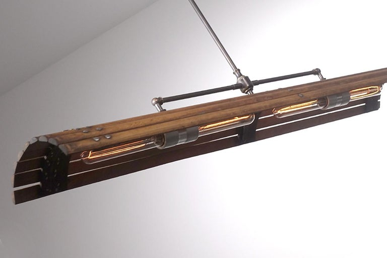 Industrial Tambour Lamp For Sale
