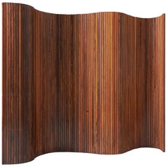 Tambour Screen Room Divider in Solid Rosewood