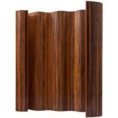 Tambour Screen Room Divider in Solid Rosewood