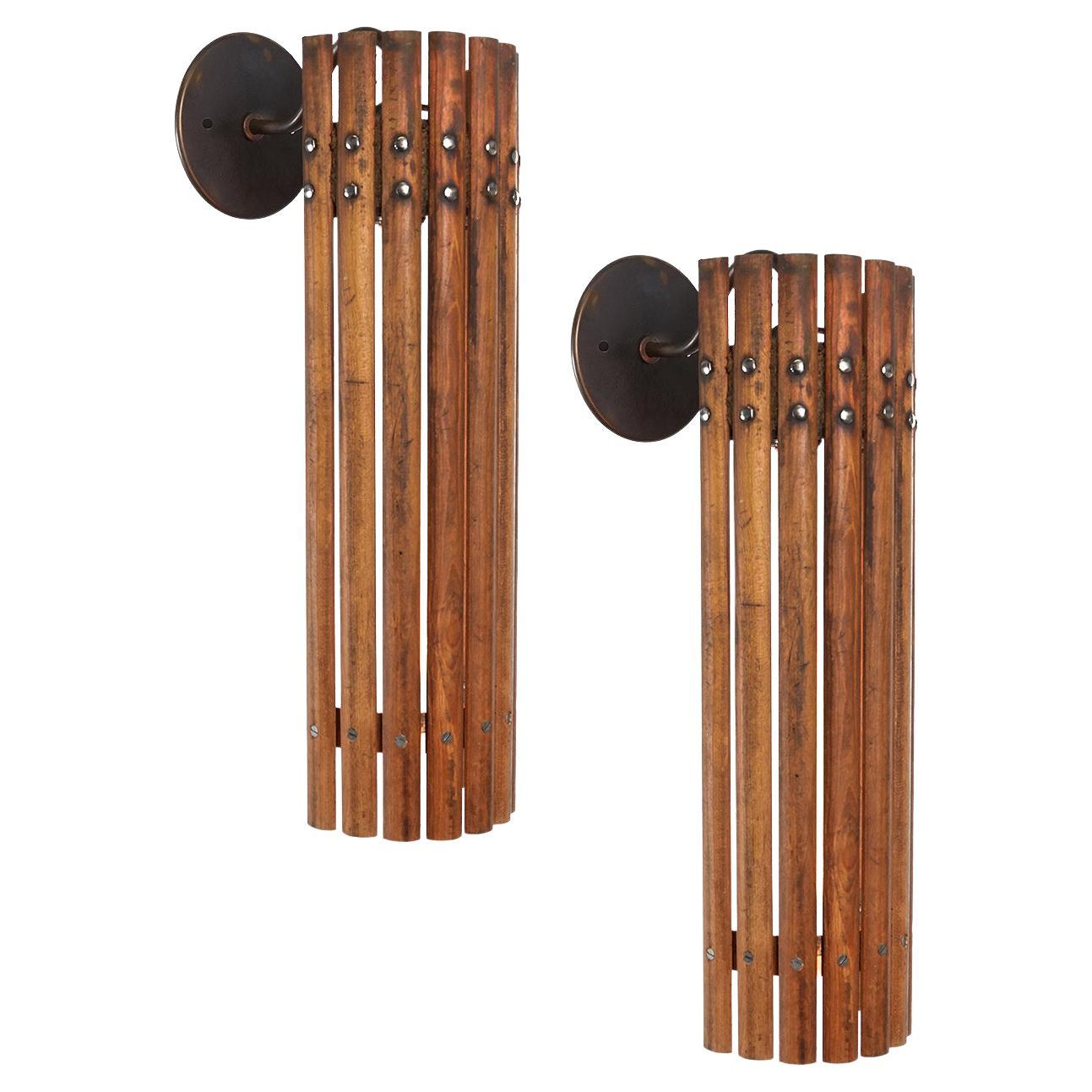 Tambour Wood Sconce