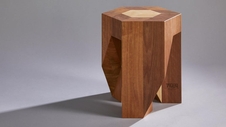 Contemporary wooden Japanese Style Multi-Functional Pair of Stools by Tamen   In New Condition For Sale In Brooklyn, NY