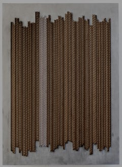Tamiko Kawata, CBL-1, minimalist cardboard, acrylic sculpture, 2018