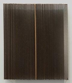 Tamiko Kawata, CBM-1, minimalist cardboard sculpture, 2018