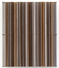 CBM-3, minimalist cardboard, acrylic sculpture, 2018