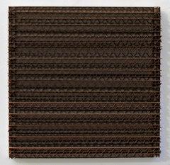 Tamiko Kawata, CBS-5, minimalist cardboard, acrylic, and wood sculpture, 2018