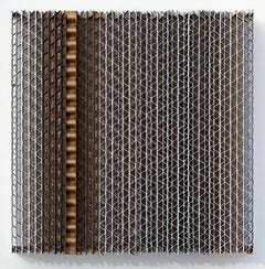 Tamiko Kawata, CBS-6, minimalist cardboard, acrylic, and wood sculpture, 2018