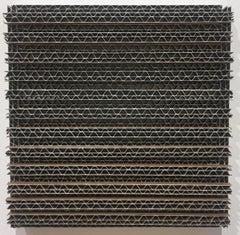 Tamiko Kawata, CBS-8, minimalist cardboard, acrylic, and wood sculpture, 2018