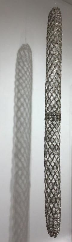 Tamiko Kawata, Long Piece, Safety pins sculpture, 2018