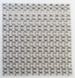 Permutation 10, minimalist safety pins abstract sculpture, 2018