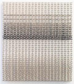 Tamiko Kawata, Permutation 11, Safety pins sculpture, 2018