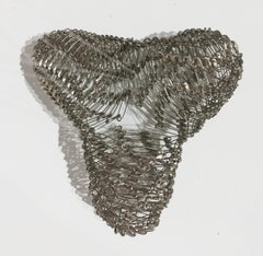 Tamiko Kawata, Three Wings (large), Safety pins sculpture, 2016