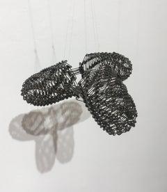 Tamiko Kawata, Three Wings (small), Safety pins sculpture, 2016