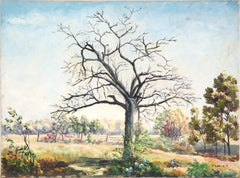 Bare Tree in the Field - Landscape