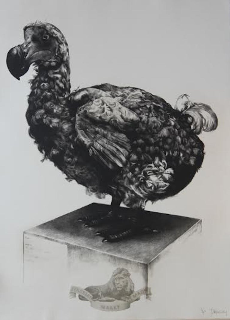 Tammy Mackay, Gone, Dodo Art, Contemporary Print, Affordable Art, Monochrome Art - Photorealist Photograph by Tammy Mackay