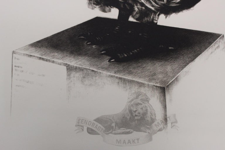 Tammy Mackay, Gone, Dodo Art, Contemporary Print, Affordable Art, Monochrome Art For Sale 2