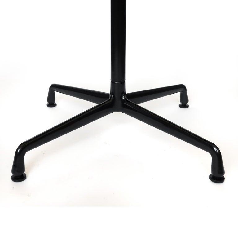 Mid-Century Modern Tan & Black Eames Aluminum Group Table for Herman Miller For Sale