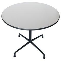 Tan & Black Eames Aluminum Group Table for Herman Miller