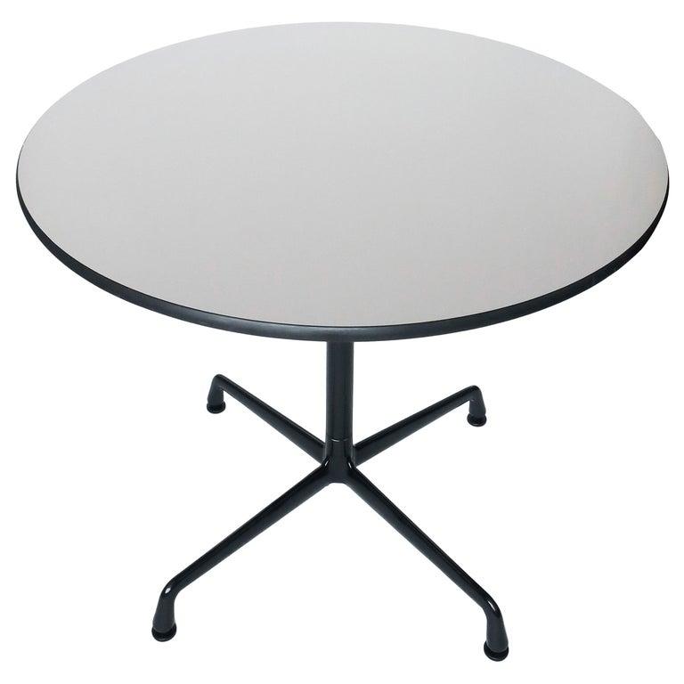 Tan & Black Eames Aluminum Group Table for Herman Miller For Sale