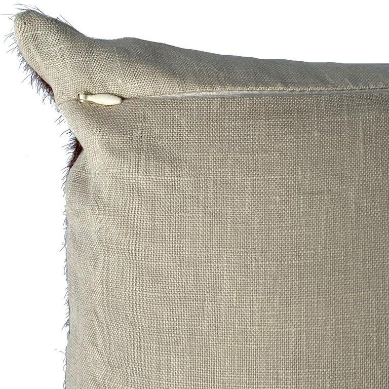 Australian Tan Brown Cowhide Pillow, Lumbar Cushion For Sale