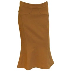 Tan Coloured Skirt by Versace