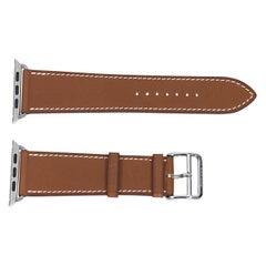 Tan Hermes Leather Apple Watch Strap
