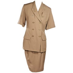 Tan Jean Paul Gaultier Femme Skirt Suit Set