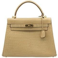 Tan JP Renard Crocodile Handbag