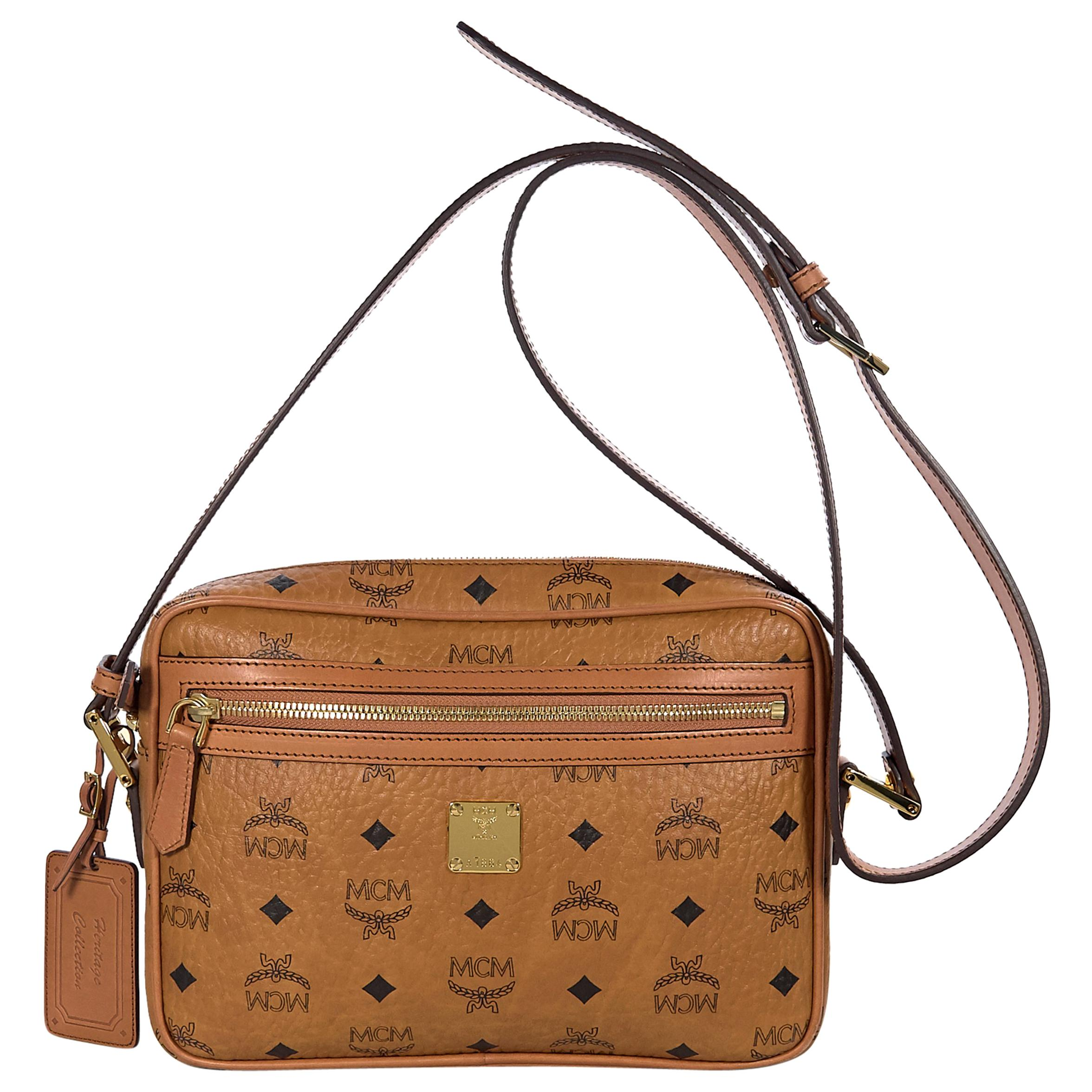2ffcb2bc013 Tan MCM Heritage Collection Crossbody Bag at 1stdibs