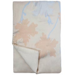 Tan Peach Flowers Quilt