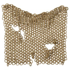 Tan Stoneware Ceramic Chain-Link Sculpture by Taylor Kibby