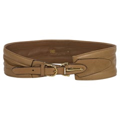 Gucci Tan Leather Wide Belt