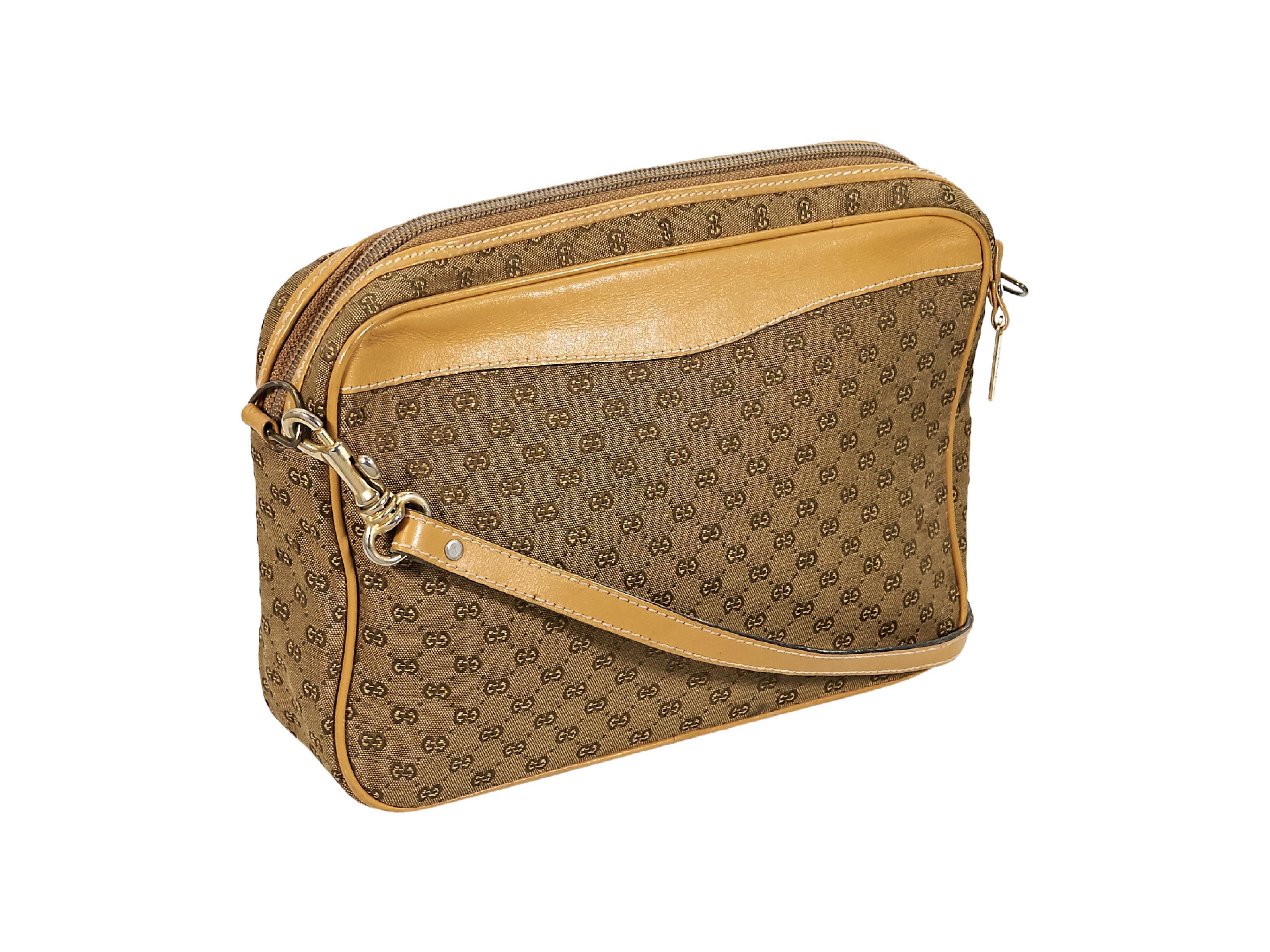 f9c32475a09 Tan Vintage Gucci Logo Crossbody Bag For Sale at 1stdibs