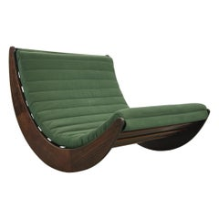 Tandem Relaxer 2-Seat Rocking Chair by Verner Panton for Rosenthal, Germany