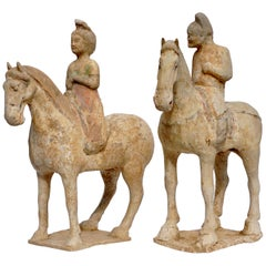 Tang Dynasty Attributed Male and Female Horse and Riders
