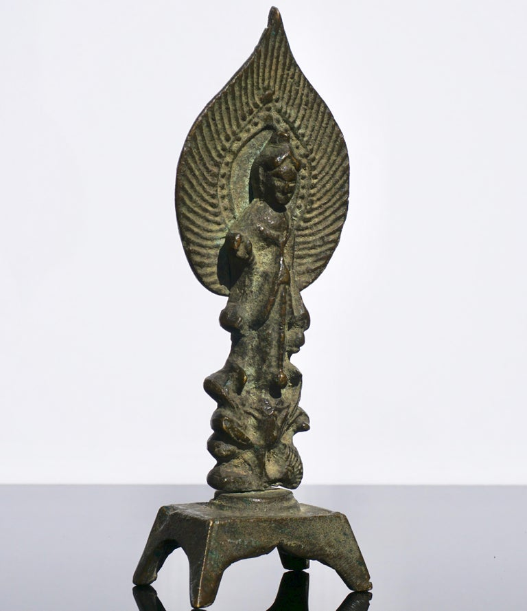 Chinese Tang Dynasty Bronze Buddha, 618AD-907AD For Sale