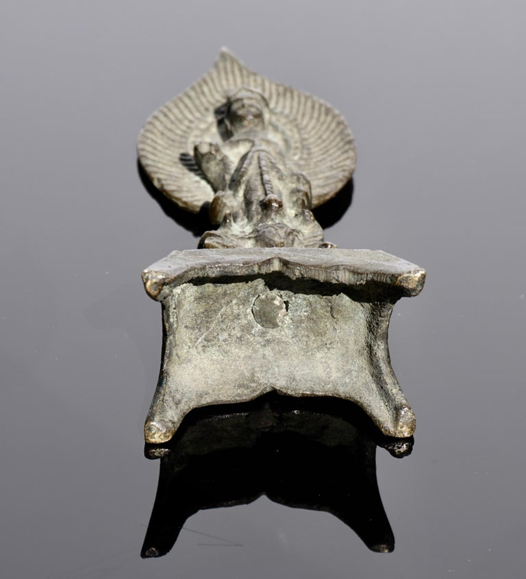 18th Century and Earlier Tang Dynasty Bronze Buddha, 618AD-907AD For Sale