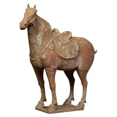 Tang Dynasty, Chinese Pottery Standing Horse with Oxford Test