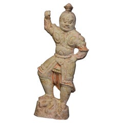 Tang Dynasty, Rare Chinese Pottery Lokapala 'Heavenly Guardian'