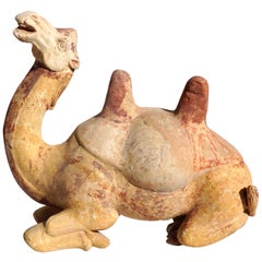 Tang Dynasty Whimsical Bactrian Camel Sculpture