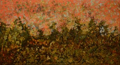 Spring Garden - Lacquer painting by Tang Xuan Doan, Vietnam
