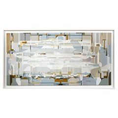 """""""Tangential,"""" 2020 a Large Abstract Framed Painting by Artist James Kennedy"""