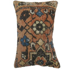 Tangerine Rug Pillow with Pink Backing